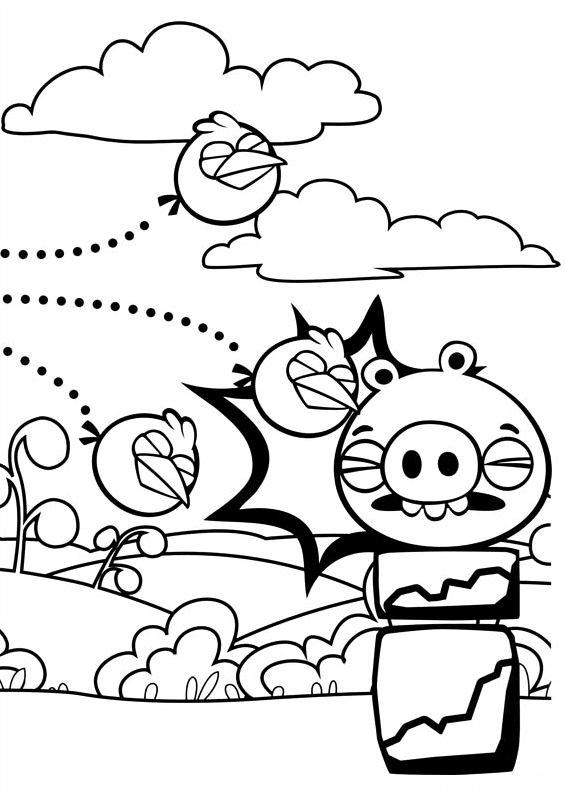 Angry Birds 16 Da Stampare E Colorare