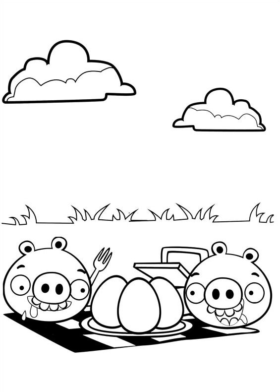dessin angry birds go! coloring pages