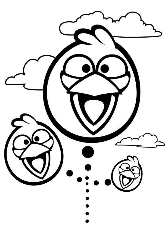 Angry Birds 4 da stampare e colorare