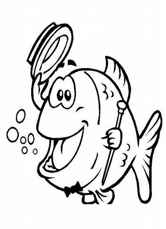 Disegni da colorare di animali for Pesci immagini da colorare