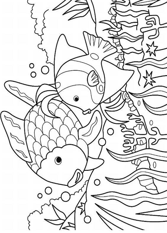 Animali Pesci Da Stampare E Colorare