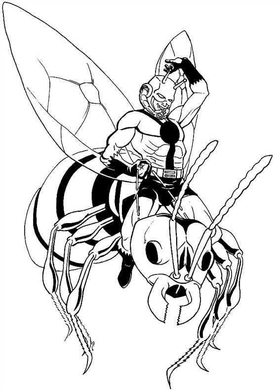 ant man 2015 coloring pages   Disegno Ant Man Vespa da stampare e colorare