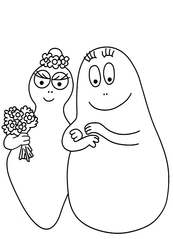 Barbapapa barbamamma da stampare e colorare for Cip e ciop immagini da colorare