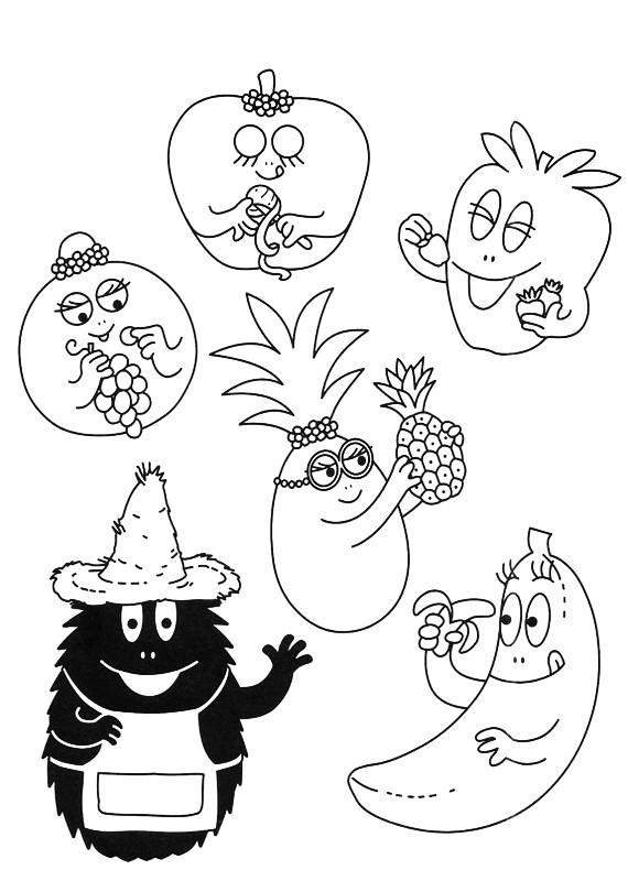 Barbapapa Frutta Da Stampare E Colorare
