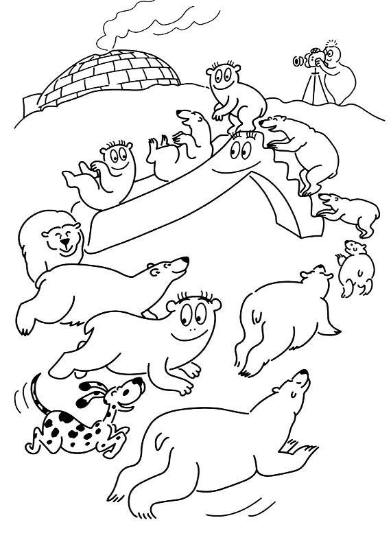 Barbapapa orsi polari da stampare e colorare - Orsi polari pagine da colorare ...