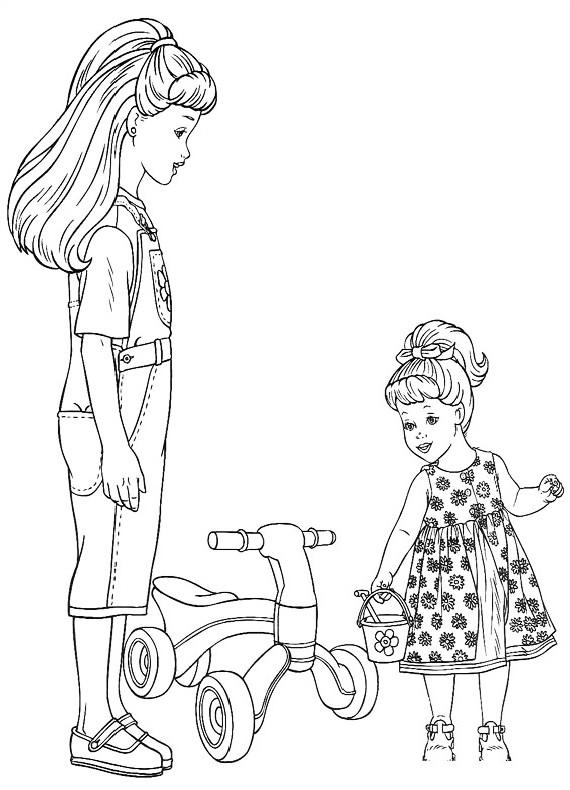 Barbie bambine da stampare e colorare for Disegni barbie da colorare gratis