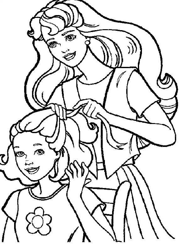 Barbie Capelli Amica Da Stampare E Colorare
