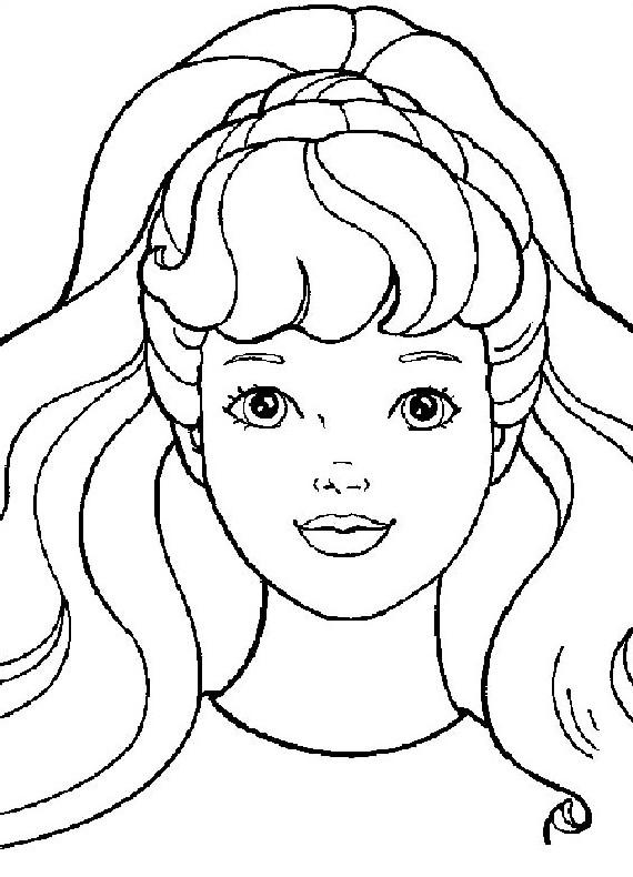 Barbie Primo Piano Stampare Colorare