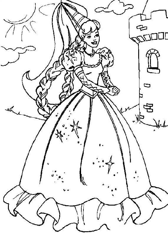 Barbie Principessa Da Stampare E Colorare