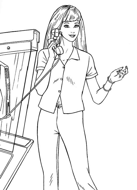 Barbie Telefono Da Stampare E Colorare