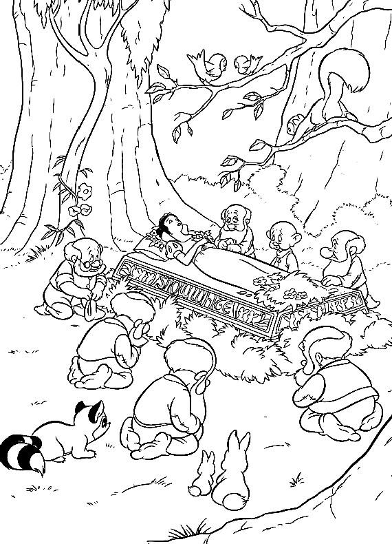 disegni da colorare gratis biancaneve