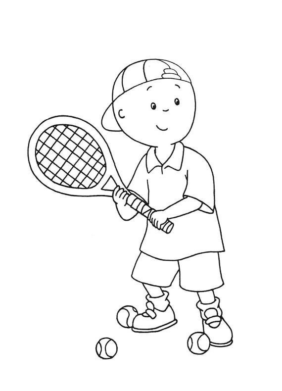 Caillou Gioca A Tennis da stampare e colorare