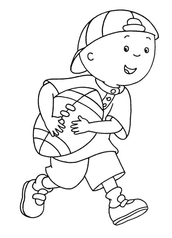 Disegni Da Colorare E Stampare Rugby.Caillou Rugby Da Stampare E Colorare