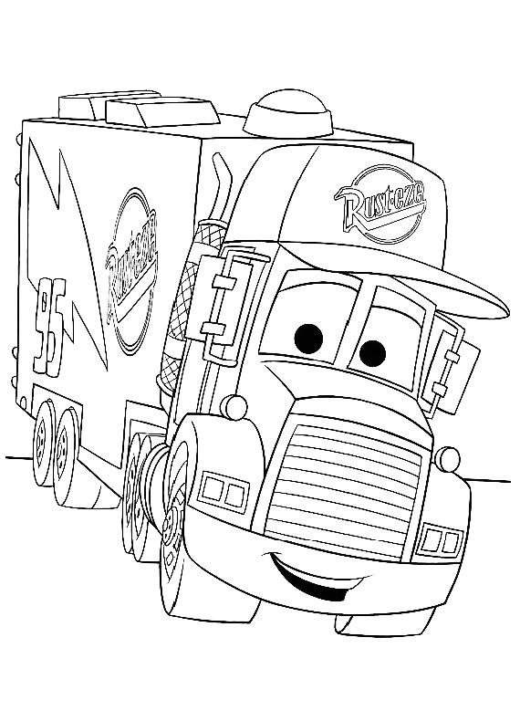 Cars camion da stampare e colorare for Disegni da stampare e colorare cars