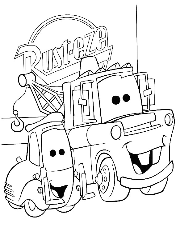 disegni da colorare cars e cricchetto