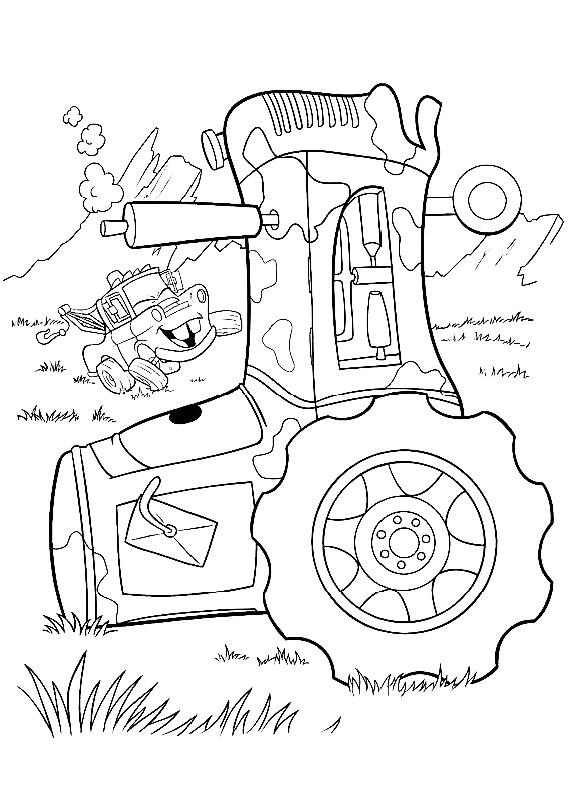 Cars cricchetto trattore da stampare e colorare