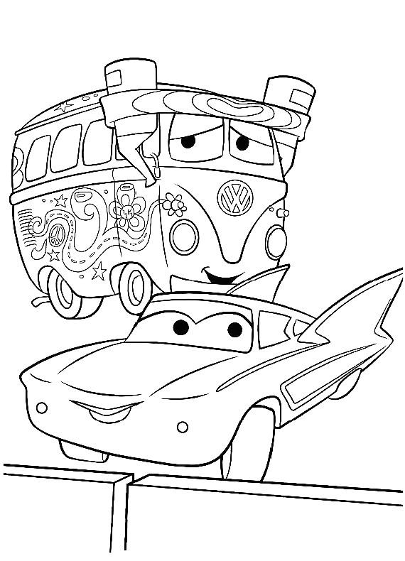 Cars Flo Da Stampare E Colorare