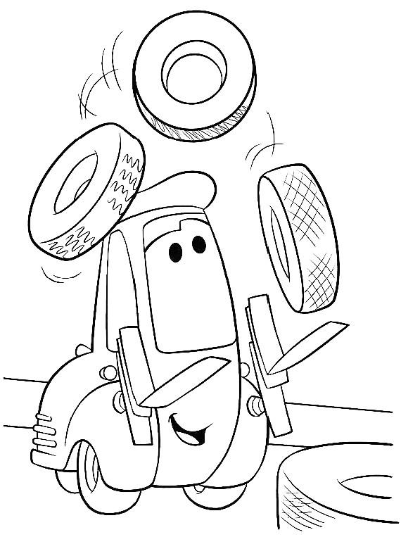 Cars guido da stampare e colorare for Disegno di cars 2 da colorare
