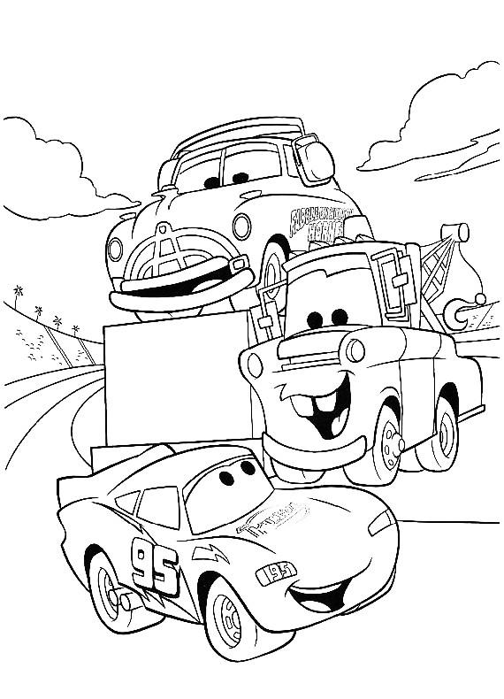 cars saetta cricchetto da stampare e colorare