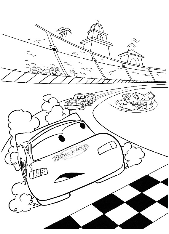 disegni da colorare e stampare gratis di cars 2