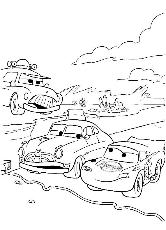 Cars sceriffo saetta hudson da stampare e colorare for Cars 2 da stampare