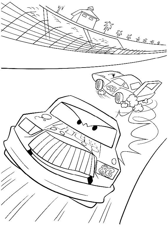 Cars strip gara da stampare e colorare for Cars 2 da stampare