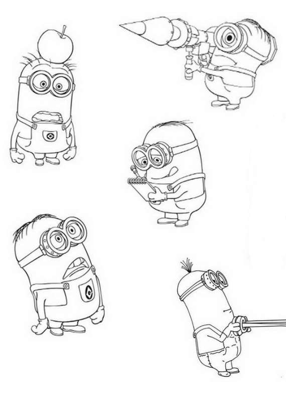 A Cute Collection Of Minions Despicable Me Wallpaper