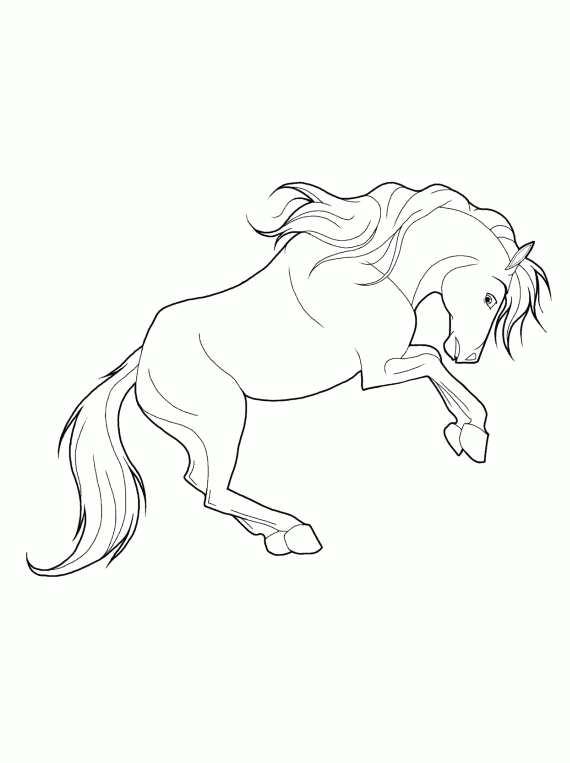 Cavalli da colorare cavallo imbizzarrito da stampare e for Barbie a cavallo da colorare