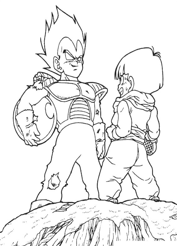 dragon ball gt coloring pages - dragon ball gt baby free coloring pages