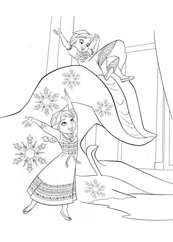 Elsa E Anna Da Colorare Stampae Colorare
