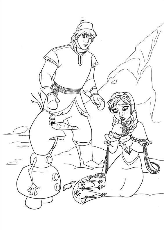 Frozen Anna Olaf Kristoff Da Stampare E Colorare