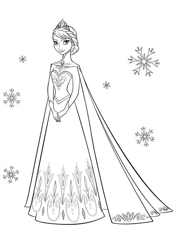 Frozen elsa 1 da stampare e colorare for Disegnare elsa frozen