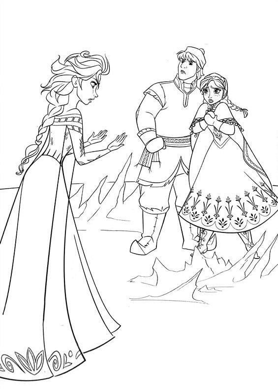 Frozen Principesse E Kristoff Da Stampare E Colorare