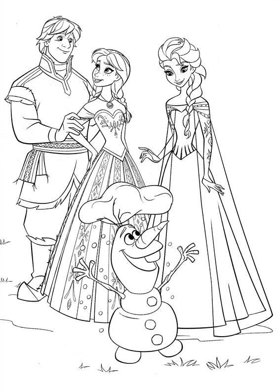 Frozen scena 6 da stampare e colorare for Frozen da colorare e stampare
