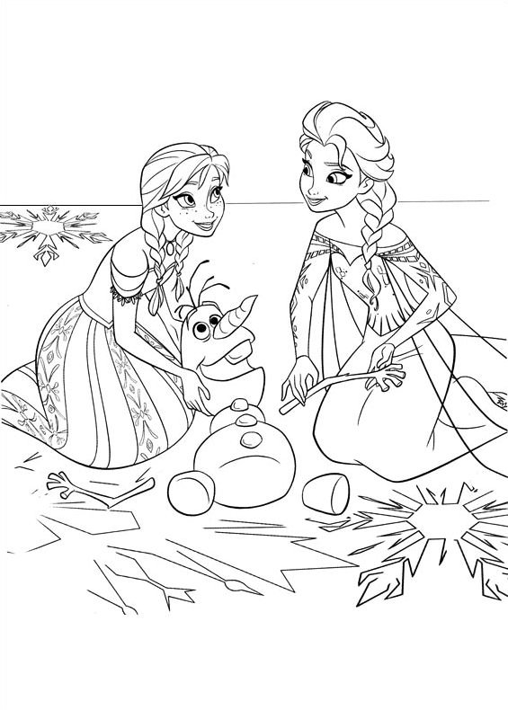 Disegni da colorare di frozen for Disegni frozen da colorare