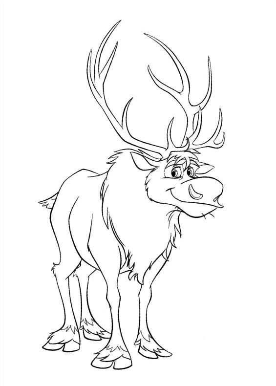 christopher frozen coloring pages - photo#11