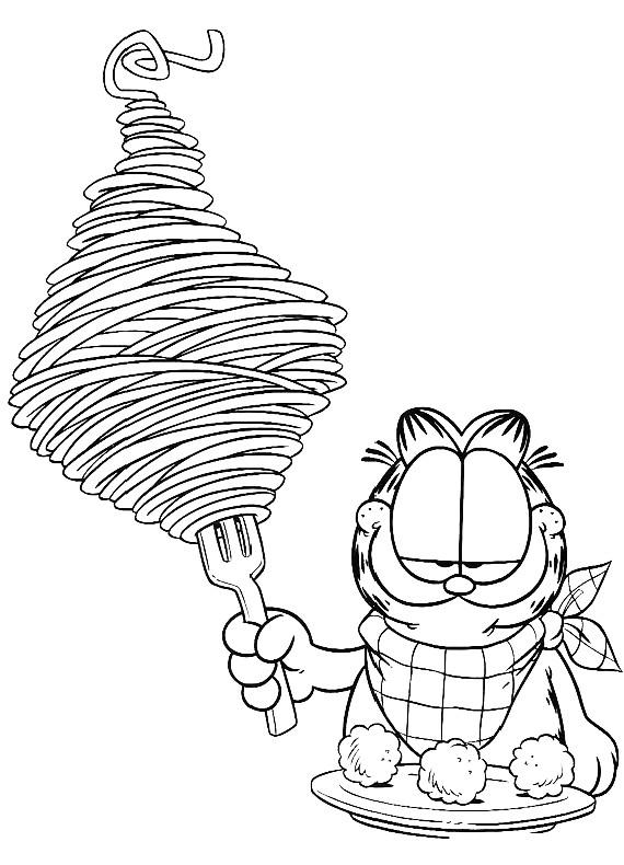 Garfield Coloring Pages Pdf : Disegni da colorare di garfield