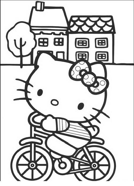 Hello Kitty Bicicletta Da Stampare E Colorare