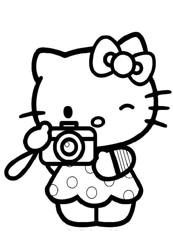 Hello kitty macchina fotografica
