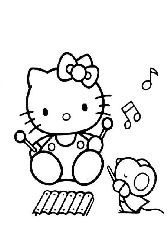 Disegni da colorare di hello kitty for Disegni da colorare hello kitty