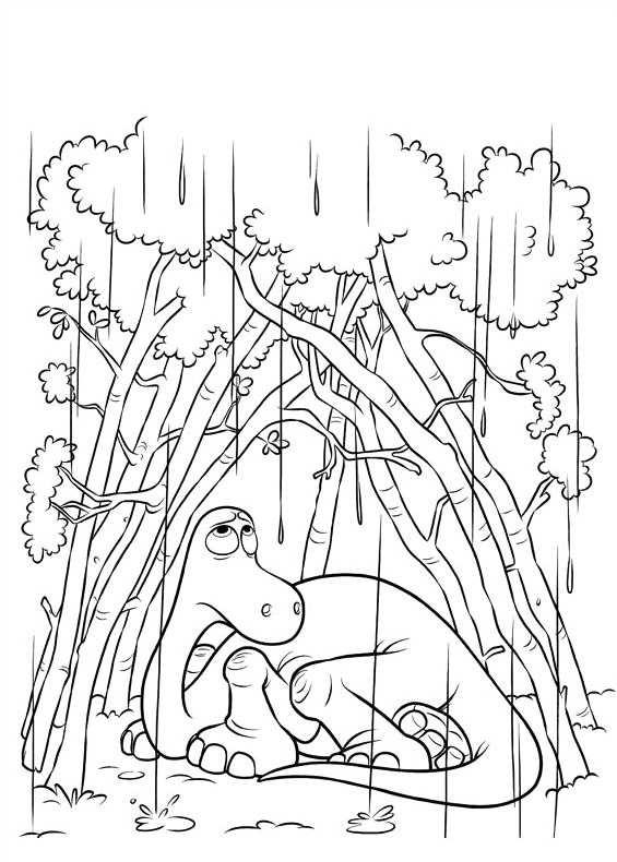 disegni da colorare di il viaggio di arlo