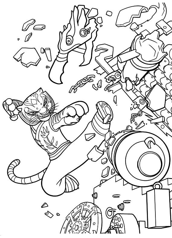 Kung Fu Panda 2 Tigre Combatte 1 Da Stampare E Colorare