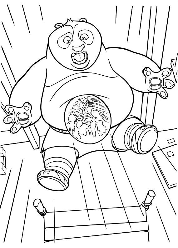 Disegni Da Colorare Di Kung Fu Panda 2