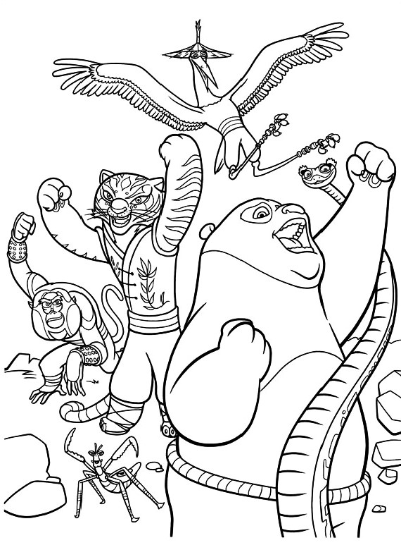 Disegni da colorare di kung fu panda 2 for Kung fu panda 2 coloring pages