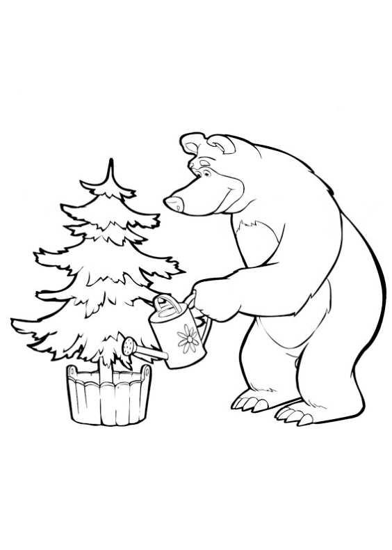 Disegni da colorare di masha e orso for Masha e orso stampa e colora