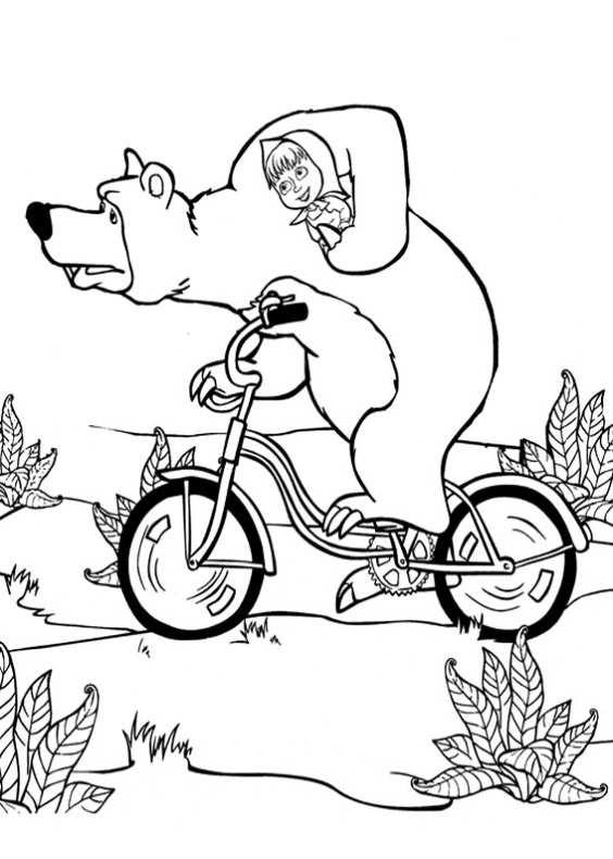 Disegni da colorare di masha e orso