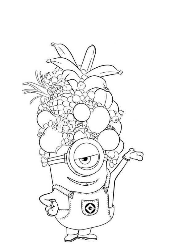 Disegni da colorare di minions for Minions immagini da stampare