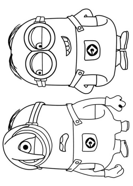 disegni da colorare di minions