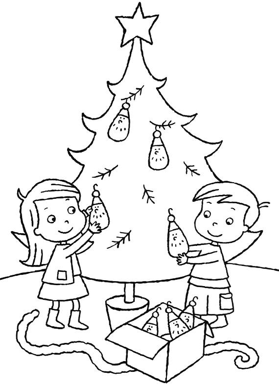 Natale Albero Di Natale Da Stampare E Colorare