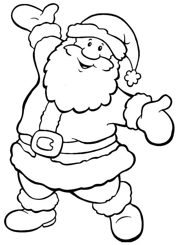 Natale babbo allegro da stampare e colorare - Babbo natale da colorare fogli da colorare ...